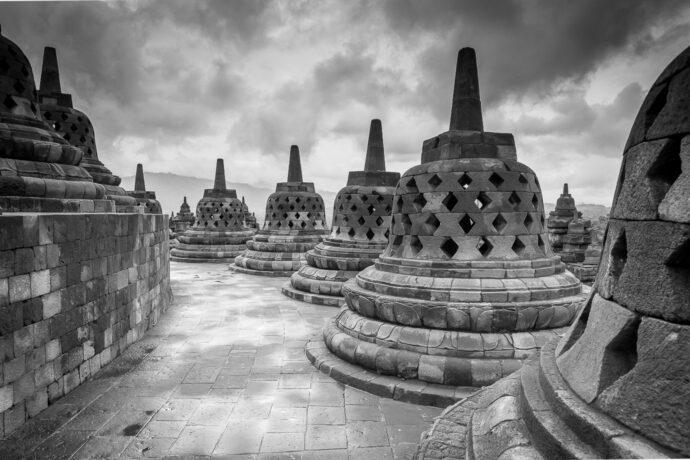 Borobodur buddhist temple java